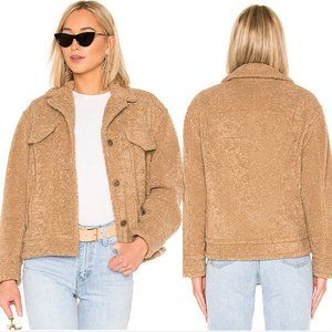 Vince | NWT Sherpa Teddy Jacket in Camel Brown